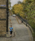 Amanda Cooper of EBOR running on Albert Terrace