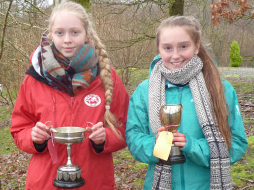 Laura And Lucy And Their Trophies